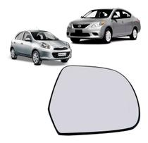 Lente Retrovisor Nissan March Versa Original - Metagal
