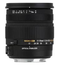Lente Sigma 17-70mm F/2.8-4 DC Macro HSM Nikon 72mm -