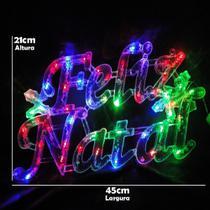 Letreiro Luminoso Decorativo 35 LEDs Feliz Natal 110v 1855 - Wmt