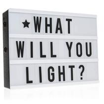 Letreiro Quadro Led Light Box Cinema (Led Colorido) - Y888