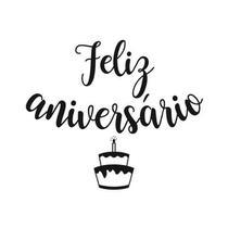 Lettering Transfer para Balão Feliz Aniversário Bolo Preto Parabéns 22X18 cm - Cromus