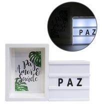 Light Box Com Porta Retrato Letreiro Led Letra Luminaria - Coisaria