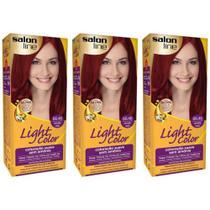 Lightcolor Tinta Profissional Especial 66.46 Vermelho Cereja (Kit C/03) - Light Color