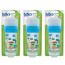 Lillo 614421 Super Divertida Mamadeira Silicone Azul 260ml (Kit C/03) -