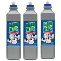 Limpa Alumínio Diabo Verde Tradicional 500ml - Kit com 03 Unidade -