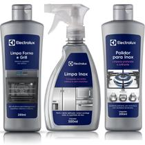 Limpa Forno e Grill Electrolux + Polidor para Inox + Limpa Inox Líquido -