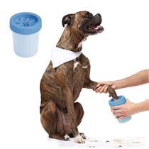 Limpa Patas Copo Limpador e Cerdas de Silicone Azul 1un - IT DOG