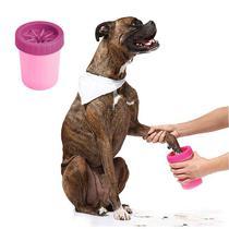 Limpa Patas Pet Copo Limpador e Cerdas de Silicone Rosa 1un - It Dog