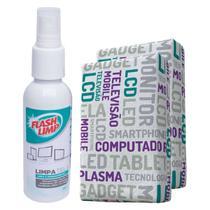 Limpa Telas em Geral  com 2 Esponjas de Microfibra Kit 0528 FlashLimp -