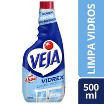 Limpa Vidro Líquido Veja Tradicional Vidrex Frasco 500Ml Ref -