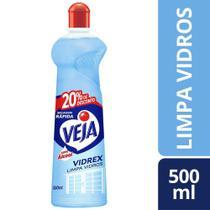 Limpa Vidro Tradicional Veja Com Alcool Seca Rapido 500Ml -