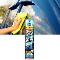 Limpa Vidros Spray Luxcar 400ml para Limpeza de Vidros e Espelhos Proteção sem Manchas -