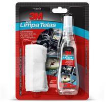 Limpador Alta Performance Kit limpa Telas 100ml com Flanela 3M -