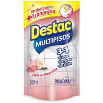 Limpador Multipisos Líriomagnólia Destac Sachê 500Ml Refil -