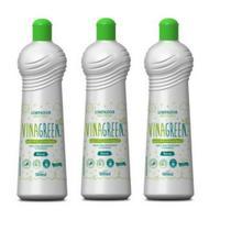 Limpador Multiuso Álcool Orgânico Vinagreen 500 ml (3 Frascos de 500 ml cada) -