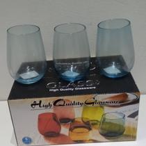 Lindos copos para sua casa Tomar suco refrigerante e água marca GLASS Glassware  6 pcs -