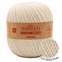 Linha Barbante Barroco Natural Brilho Círculo Nº6 - 700g -