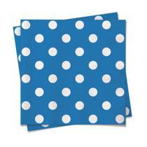 Linha Cores - Guardanapo Poá Azul e Branco 25x25 - 20 Folhas - Cromus
