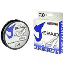 Linha Daiwa J-Braid X4 300m Multicolor - 30lbs 0,25mm PE3 -