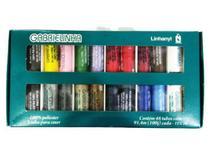 Linha de Costura Gabrielinha estojo com 48 tubos coloridos - Linhanyl
