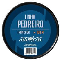 Linha de Pedreiro Trançada 0,8MMX100M - 12 unidades - Argovia -
