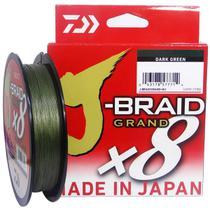 Linha Multifilamento Daiwa J-braid Gr X8 Darkgreen 300m 20lb -
