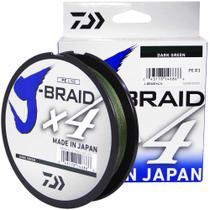 Linha Multifilamento Daiwa J-braid X4u 0,19 Mm 15 Lb 135m -