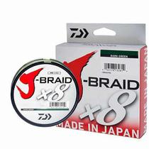 Linha Multifilamento Daiwa J-Braid X8 Dark Green (150mt) -