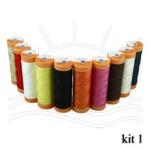 Linha para Costura Laranja - Pacote com 10 Tubos - Corrente