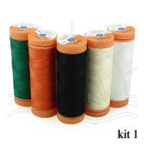 Linha para Costura Laranja - Pacote com 5 Tubos - Corrente