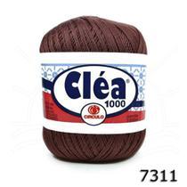 Linha Para Crochê C/ 1000m Cléa Marrom - Cor 7311 UN - Circulo