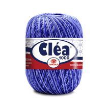 Linha Para Crochê C/ 1000m Cléa Mescla de Azul - Cor 9172 UN - Circulo