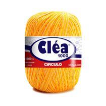 Linha para Crochê c/ 1000m Cléa Mesclada - Cor 9368 Amarelo/Branco - Círculo