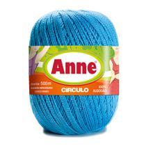 Linha para Crochê c/ 500m Anne - Cor 2470 Azul Enseada - Círculo