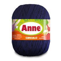 Linha para Crochê c/ 500m Anne - Cor 2856 Anil Profundo - Círculo