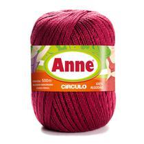 Linha para Crochê c/ 500m Anne - Cor 7136 Marsala - Círculo