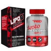 Lipo 6 black 60 caps (nutrex) + metildrol 60 tabs - red series -