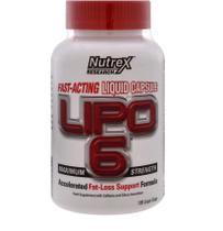 Lipo 6 cla - nutrex white label 120 cápsulas -