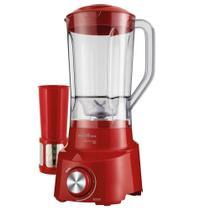 Liquidificador Britânia DIAMANTE 800 VM, 900W, 4 Vel + Pulsar, Vermelho - 220V -