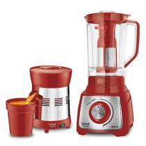Liquidificador + Extrator de Sucos Turbo Premium Inox Red Ichef Polishop e GANHE R 69,00 de Desconto -