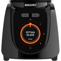 Liquidificador Mallory Optima Glass Copo de Vidro 4 Velocidades 820W Preto -