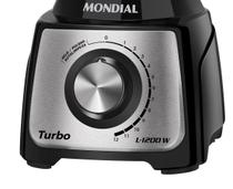 Liquidificador Mondial Turbo Black L-1200 BI -
