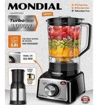 Liquidificador Mondial Turbo Inox L1000bi 12 Vel 1000w 220v -