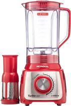 Liquidificador Mondial Turbo Premium 1200W Vermelho - 110V -