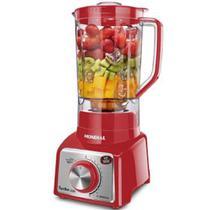 Liquidificador Para Cozinha Mondial Turbo Premium Filtro 1000W 12V Vermelho - Brinox