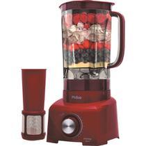 Liquidificador Philco com Filtro 900W, Capacidade de 2L e 12 Velocidades PH900 Vermelho 127V -
