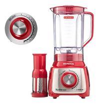 Liquidificador turbo inox 3,0l 1200w vermelho - CDS
