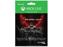 Live Gold 3 meses Gears of War  - para Xbox 360 e Live - Microsoft
