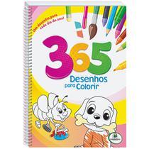 Livro - 365 desenhos para colorir rosa - espiral -