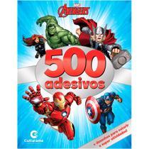 Livro - 500 ADESIVOS MARVEL VINGADORES -